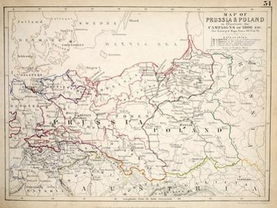 Map of Prussia and Poland, Published by William Blackwood and Sons, Edinburgh and London, 1848 by Alexander Keith Johnston