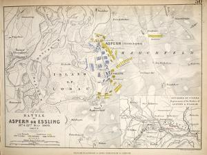 Map of the Battle of Aspern or Essling, Published by William Blackwood and Sons, Edinburgh and… by Alexander Keith Johnston