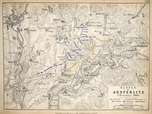 Map of the Battle of Austerlitz, Published by William Blackwood and Sons, Edinburgh and London,… by Alexander Keith Johnston