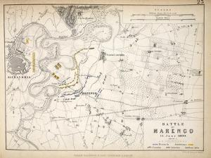 Map of the Battle of Marengo, Published by William Blackwood and Sons, Edinburgh and London, 1848 by Alexander Keith Johnston