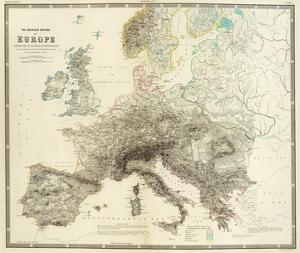 Mountains of Europe, c.1854 by Alexander Keith Johnston