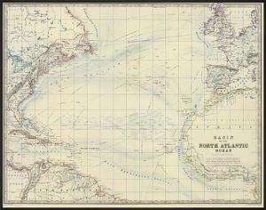North Atlantic Ocean, c.1861 by Alexander Keith Johnston