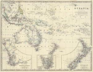 Oceania, c.1861 by Alexander Keith Johnston