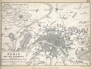Paris and it's Environs, to Illustrate the Battle of Paris, 30th March, 1814, Published C.1830s by Alexander Keith Johnston