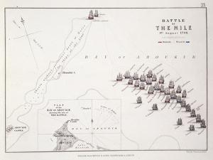 Plan of the Battle of the Nile, 1st August 1798, C.1830S (Engraving) by Alexander Keith Johnston