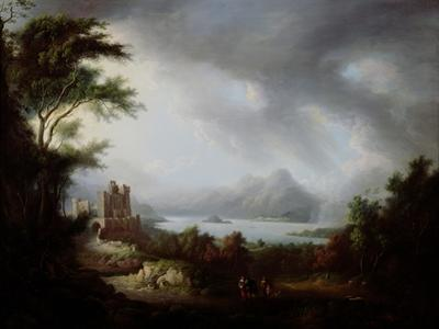 A Stormy Highland Scene by Alexander Nasmyth