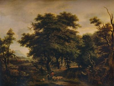 A Woody Landscape, with Figures and Sheep, c1805 by Alexander Nasmyth