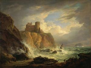 Tantallon Castle with the Bass Rock, C.1816 by Alexander Nasmyth