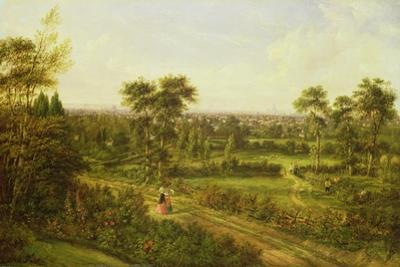 View of London from Denmark Hill by Alexander Nasmyth