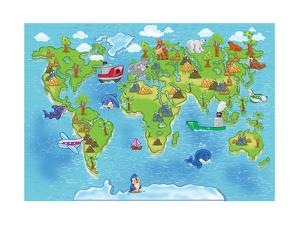 Childrens Maps Posters At AllPosterscom - Kids world map poster