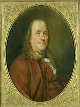 Portrait of Benjamin Franklin, C.1780-90 by Alexander Roslin