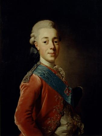 Portrait of Grand Duke Pavel Petrovich (1754-180), 1776