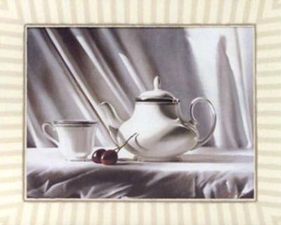 Cherry and Tea Pot by Alexander Sheversky