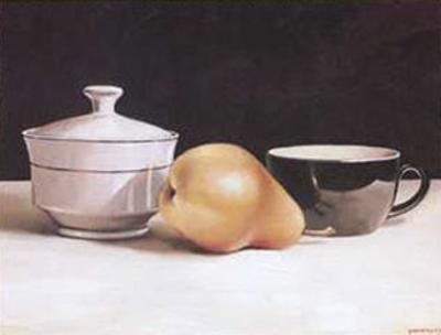 Pear and Cup by Alexander Sheversky