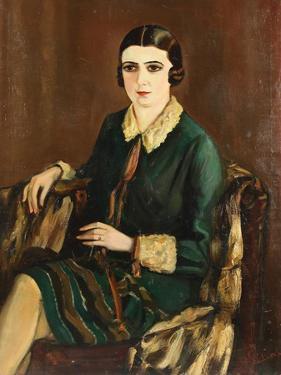 Portrait of Lilya Brik (1891-197), 1921 by Alexander Silins