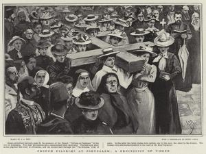 French Pilgrims at Jerusalem, a Procession of Women by Alexander Stuart Boyd