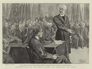 Presentation to Sir Henry Irving on Receiving His Title by Alexander Stuart Boyd
