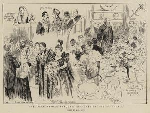The Lord Mayor's Banquet, Sketches in the Guildhall by Alexander Stuart Boyd