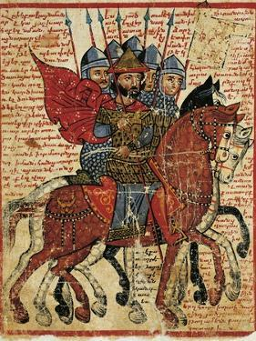 Alexander the Great Leading His Troops, Miniature from the History of Alexander the Great