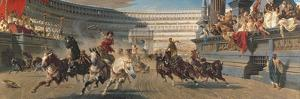 The Chariot Race, C.1882 by Alexander Von Wagner