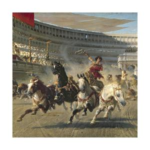 The Chariot Race, Detail by Alexander Von Wagner