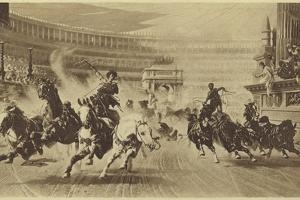 The Chariot Race by Alexander Von Wagner