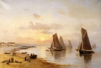 When the Boats Come Home, Skerries Beach, Evening, 1889