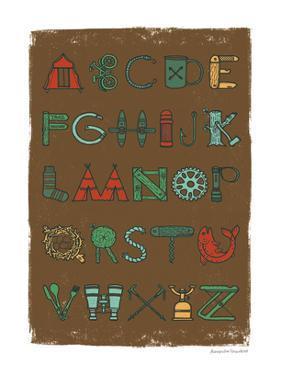 Camping Alphabet Dark by Alexandra Snowdon