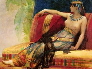 """Cleopatra (69-30 BC), Preparatory Study for """"Cleopatra Testing Poisons on the Condemned Prisoners"""" by Alexandre Cabanel"""