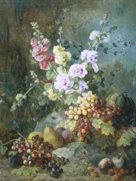 Still Life with Flowers and Fruit by Alexandre Couder