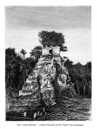 Mayan Ruins, Tikal, Guatemala, 19th Century by Alexandre De Bar