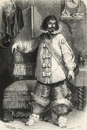 Porthos, Illustration from Three Musketeers