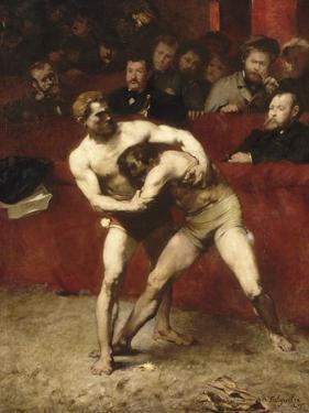 Wrestlers by Alexandre Falguière