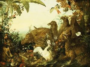 An Allegory of Africa by Alexandre-Francois Desportes