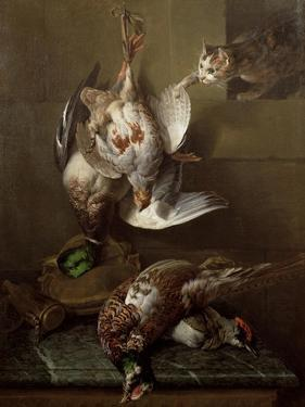 Cat Attacking Dead Game by Alexandre-Francois Desportes