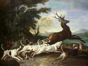 The Deer Hunt, 1718 by Alexandre-Francois Desportes
