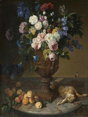 Urn of Flowers with Fruits and Hare, 1715 by Alexandre-Francois Desportes