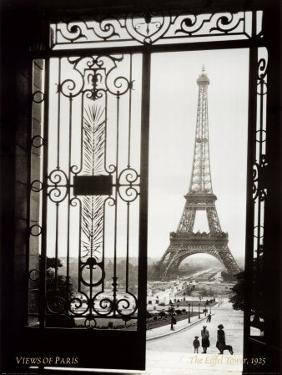 Eiffel Tower Through Gates by Alexandre-Gustave Eiffel