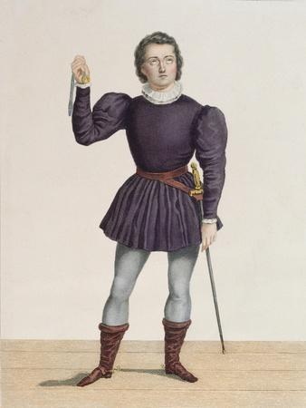 Frederick Lemaitre (1800-76) as Edgard in 'La Fiancee De Lammermoor' by Walter Scott (1771-1832) at