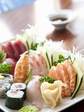 Sushi and Sashimi Platter by Alexandre Oliveira