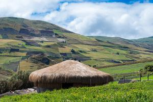 A traditional straw house in the Ecuadorian Andes, Ecuador, South America by Alexandre Rotenberg