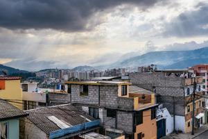 Cityscape of Quito, Ecuador, South America by Alexandre Rotenberg
