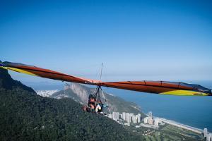 Hang gliding in Rio de Janeiro, Brazil, South America by Alexandre Rotenberg