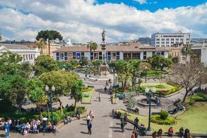 Independence Square, the principal and central public square of Quito, Ecuador, South America by Alexandre Rotenberg