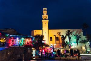 Jaffa at night, Israel, Middle East by Alexandre Rotenberg