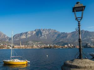 Lake of Lecco, a branch of Lake Como in the southern Alps with the city of Lecco in the background, by Alexandre Rotenberg