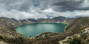 Panorama of Quilotoa, a water-filled caldera and the most western volcano in the Ecuadorian Andes,  by Alexandre Rotenberg