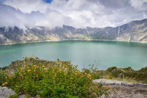Quilotoa, a water-filled caldera and the most western volcano in the Ecuadorian Andes, Ecuador, Sou by Alexandre Rotenberg