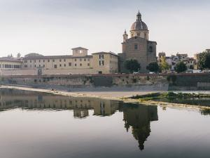 San Frediano in Cestello church with reflection on River Arno in Florence, Tuscany, Italy, Europe by Alexandre Rotenberg