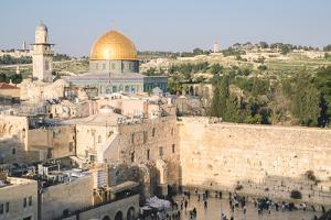 Temple Mount, Dome of the Rock, Redeemer Church and Old City in Jerusalem, Israel, Middle East by Alexandre Rotenberg